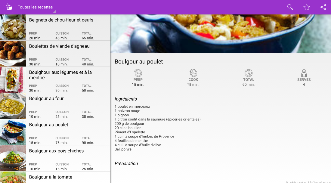 Recettes cuisine orientale android apps on google play for Cuisine orientale
