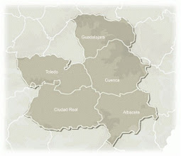 Photo: Mapa Castilla - La Mancha (nombre de provincias)