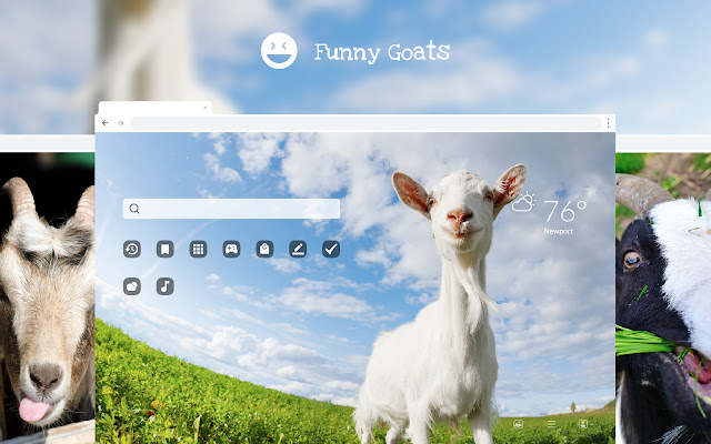 Funny Goats HD Wallpapers New Tab Theme