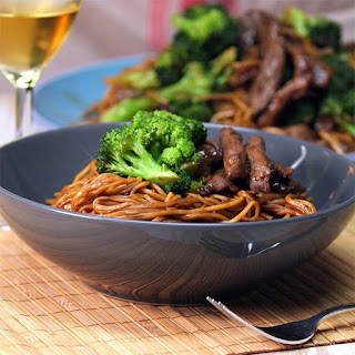 Beef And Broccoli Noodle Stir Fry.