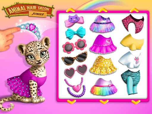 Jungle Animal Hair Salon - Styling Game for Kids android2mod screenshots 9