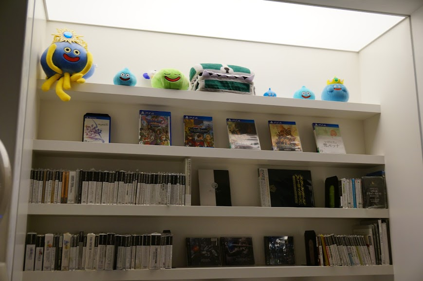 Dragon Quest goods at the Artnia Square Enix Cafe shop in Shinjuku district, Tokyo