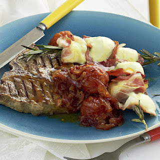 Steak with Smoked Tomato Relish and Bocconcini Skewers