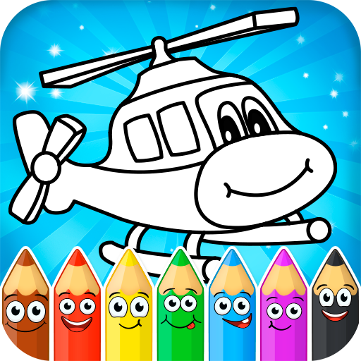 Coloring pages for children : transport (game)