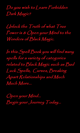 Black Magic Witchcraft Spells