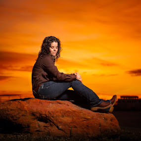 Sunset Beauty by Andy Glogower - People Portraits of Women ( sunset, family portraits, pretty, portrait )