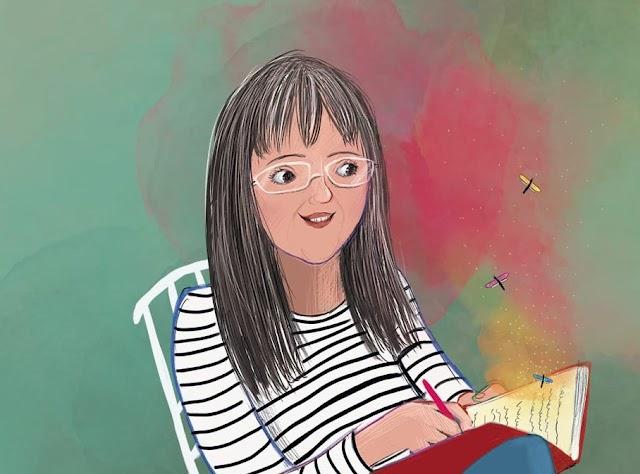 Dibujo de Pilar Quirosa hecho por Virginia González.