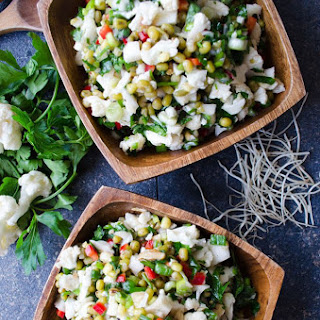 Tangy Raw Cauliflower Salad.