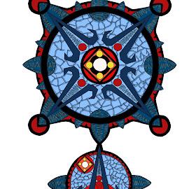 Circles by Ella Kingston - Illustration Abstract & Patterns ( art, blue, circles, digital art )