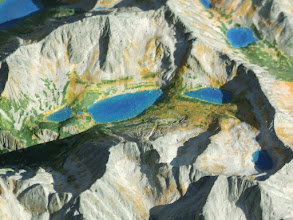 Photo: Five Polish Lake Valley. Relief Map