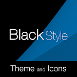 Black Blue Premium Theme Icon