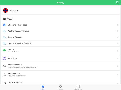 ノルウェーの天気予報、旅行者のためのガイド。|玩天氣App免費|玩APPs