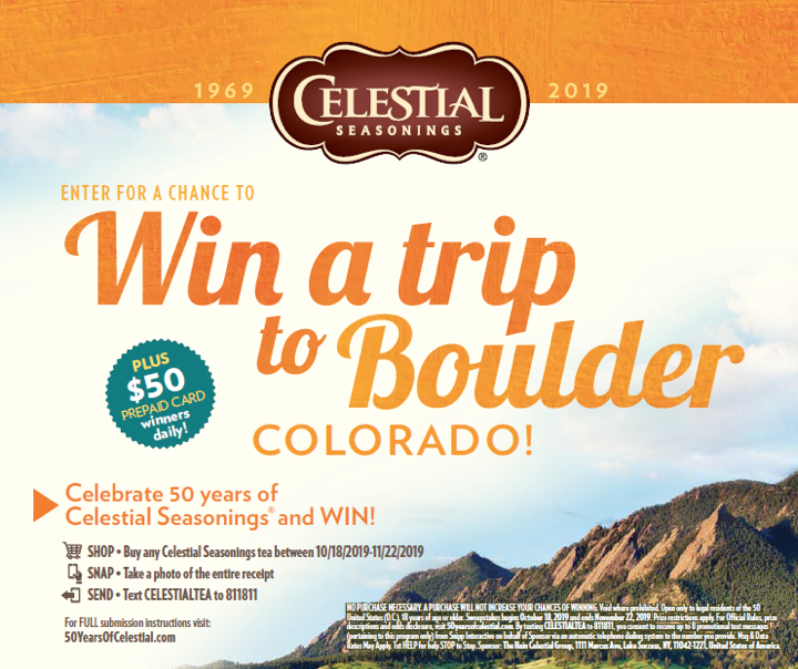 Enter to Win a Trip to Trip to Boulder, CO via Cel…