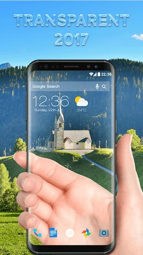 Transparent Screen Simulated Android App Screenshot