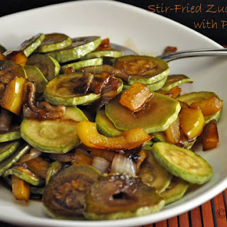 Stir-Fried Zucchini with Yellow Peppers