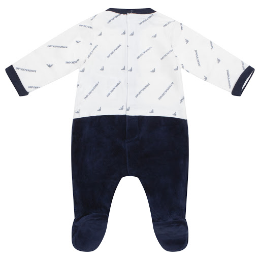 Thumbnail images of Emporio Armani Velour & Cotton Babygrow