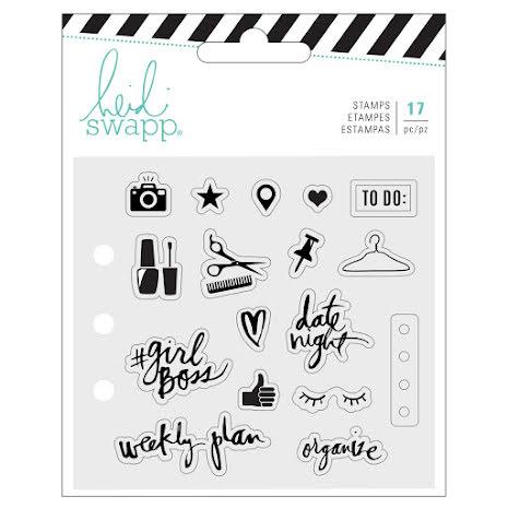 Heidi Swapp Memory Planner Clear Stamps - Fresh Start Everyday UTGÅENDE