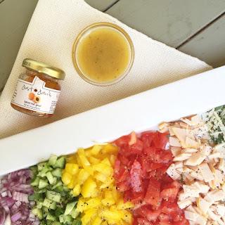 Smoked Turkey Chopped Salad with Apricot Vinaigrette