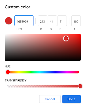 Custom color picker.