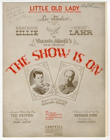 Sheet music:Little Old Lady from the Show Is On