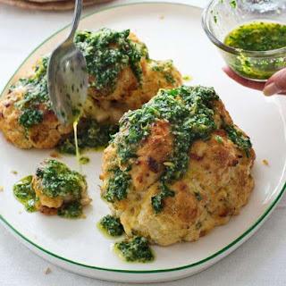 Italian Whole-Roasted Cauliflower with Parsley Sauce Recipe