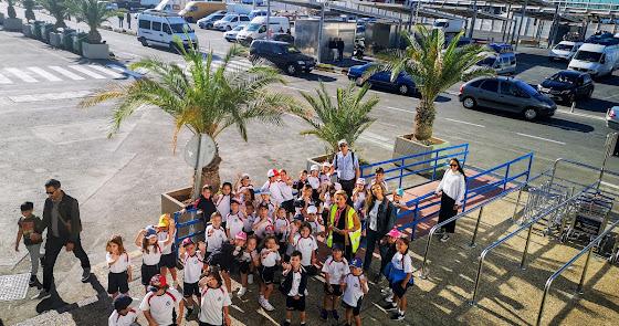 Los alumnos del Sek Alborán de Almerimar visitan el Puerto de Almería