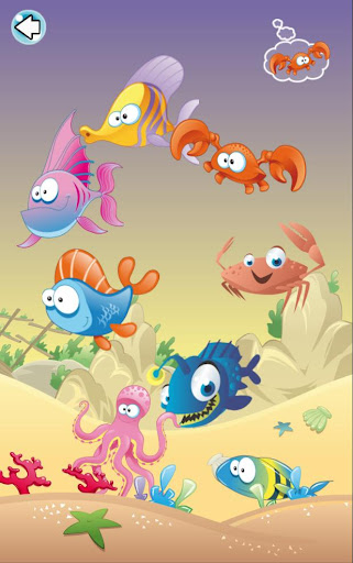 Fishes. Teaching child's game