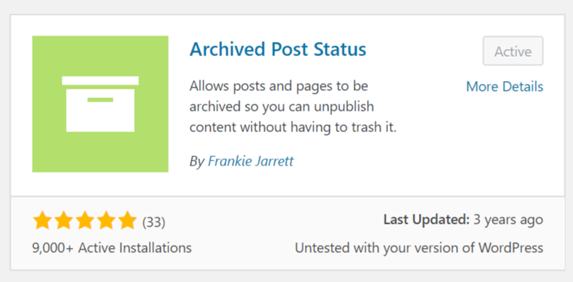 Archived Post Status Plugin