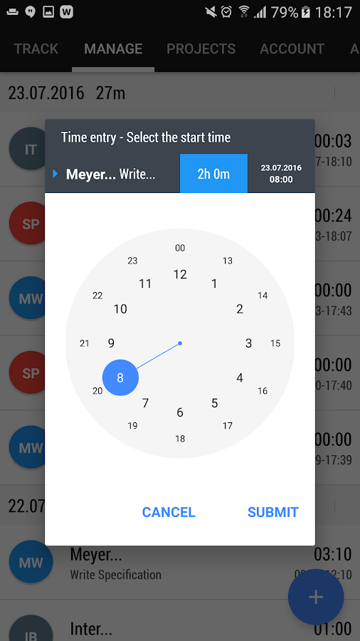 Time and Bill - Time Tracking- screenshot