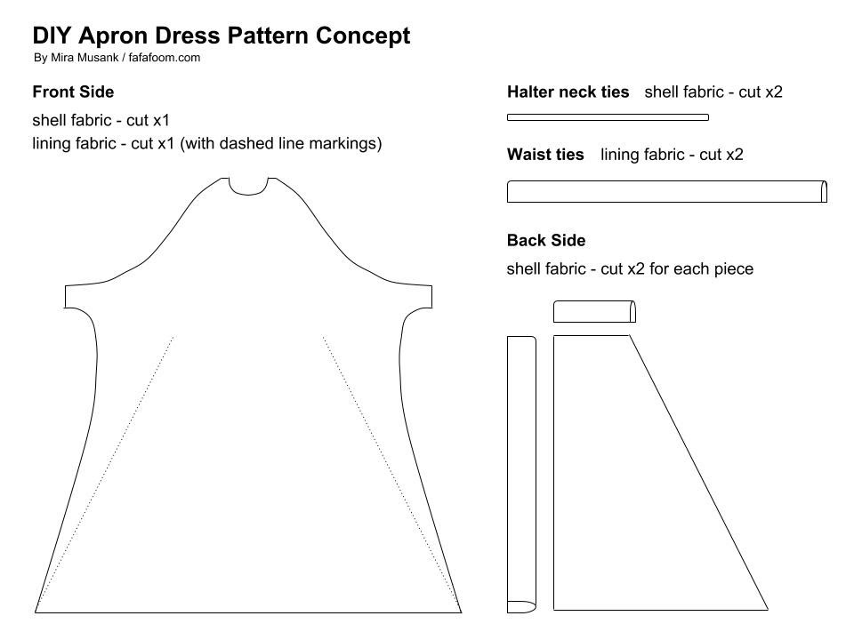 Plan: DIY Three-Way Apron Dress - DIY Fashion Garments