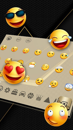golden black business keyboard theme screenshot 3