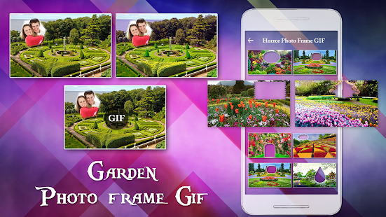 Garden GIF Photo Frame Editor - náhled