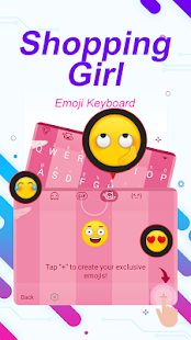 Shopping Girl Theme&Emoji Keyboard - náhled