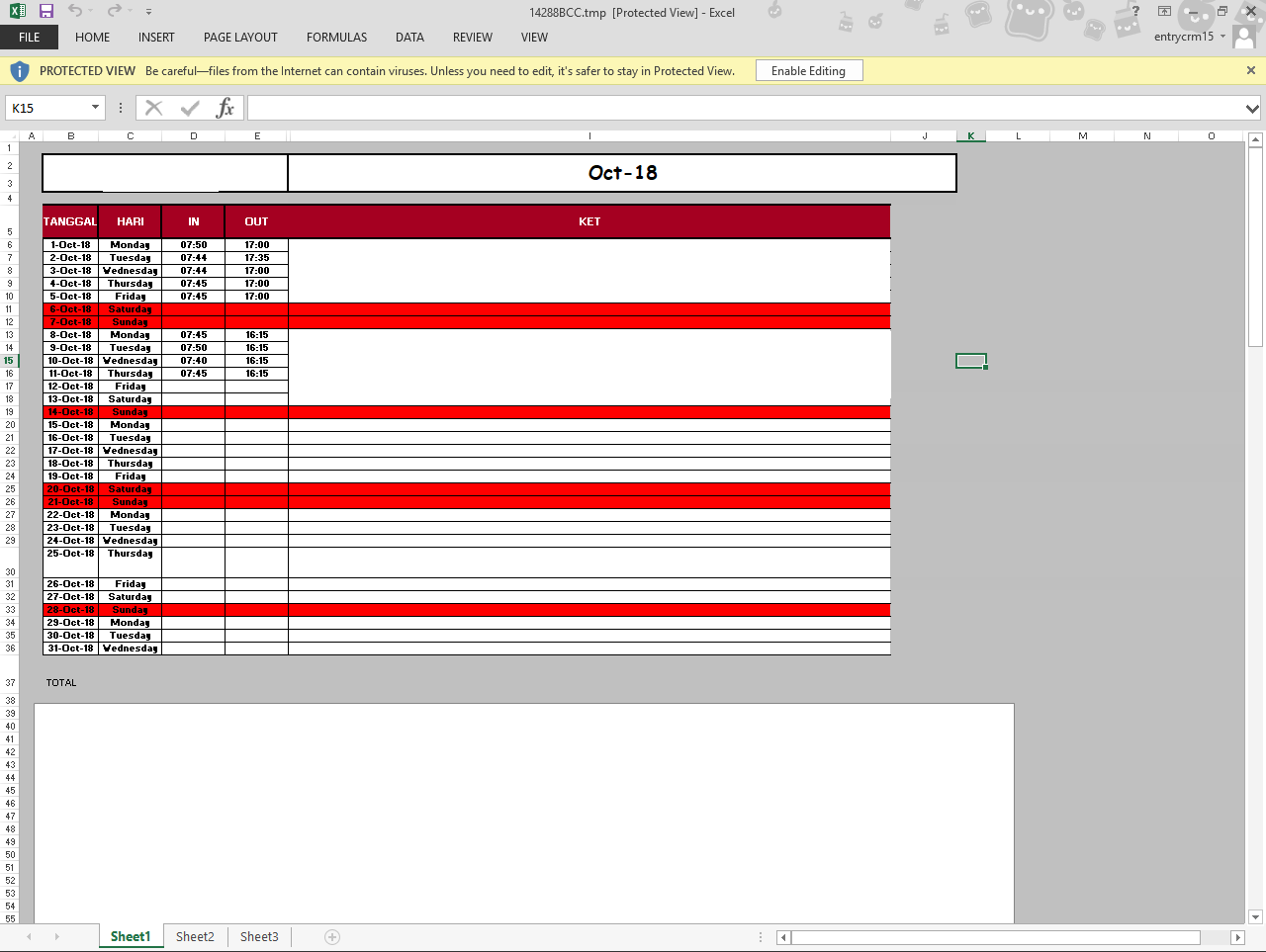 Tmp File To Excel