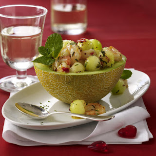 Minted Shrimp and Melon Salad.