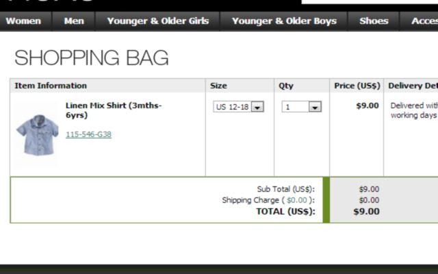 Next IL Shopping-bag item links