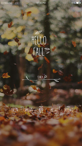 HELLO FALL 가을 낙엽 버즈런처 테마 홈팩