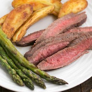 Soy, Orange Juice and Red Wine Marinated Flank Steak.