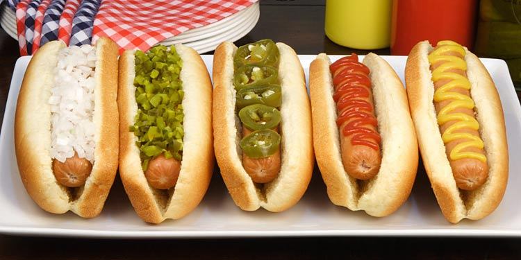Choose the topping for your Coney Island hot dog at Boardwalk Dog House on Harmony.