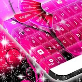 Pink Glamour GO Keyboard