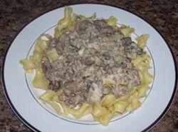 15 Minute Hamburger Stroganoff Recipe