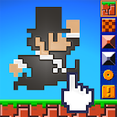 Super Mega Runners jump and create platformer game
