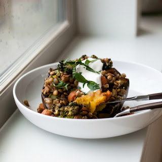 Garam Masala Lentil & Vegetable Squash Bowls Recipe