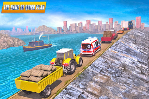 Drive Tractor trolley Offroad Cargo- Free 3D Games android2mod screenshots 11