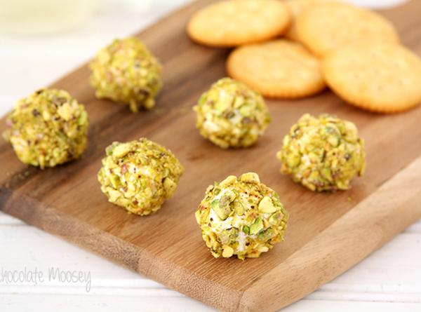 Goat Cheese, Bacon, And Pistachio Truffles Recipe
