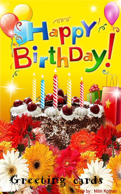 birthday greeting cards  android apps on google play, Birthday card