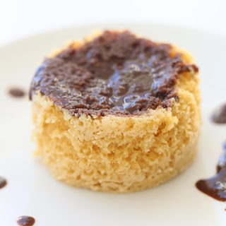 The 2 Minute Paleo Vanilla Cupcake with Chocolate Frosting (nut free).