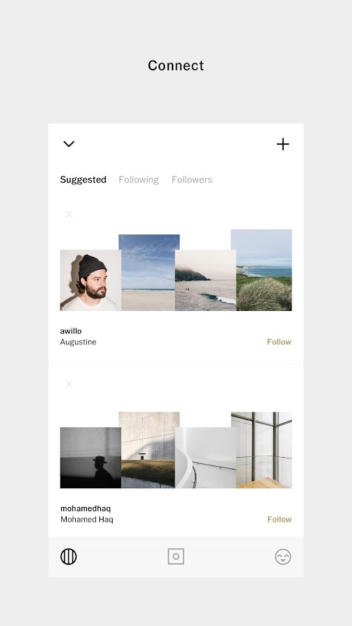 Screenshots of VSCO for iPhone