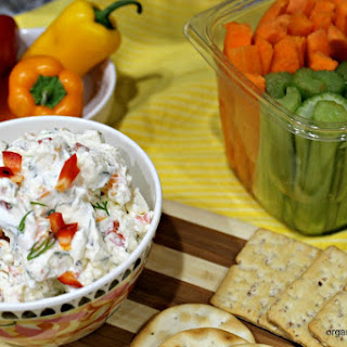 Garden Vegetable Cream Cheese Dip.