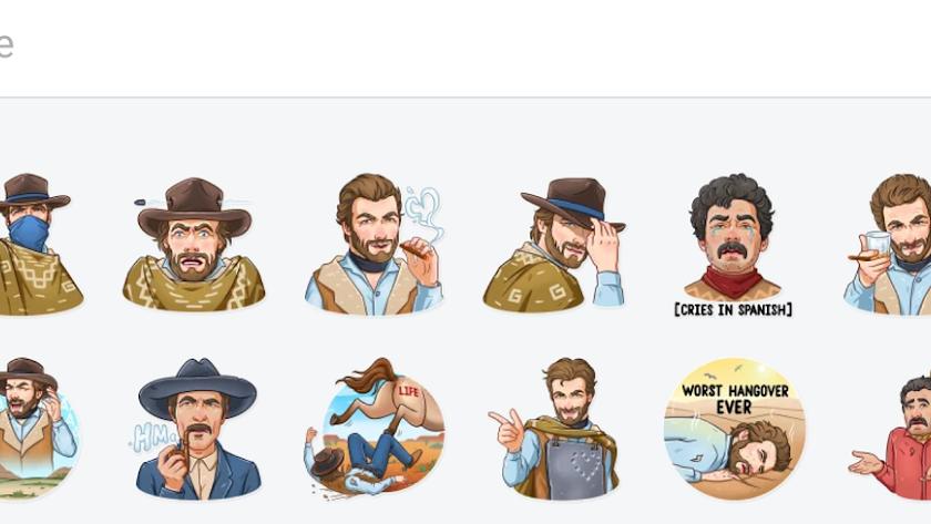 Colección de stickers de Clint Eastwood.